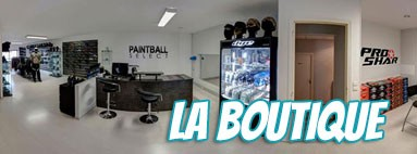 La boutique Paintball Select à Morangis (91) à 20 min. de Paris
