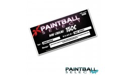 Carte cadeau 150€ Boutique Paintball select