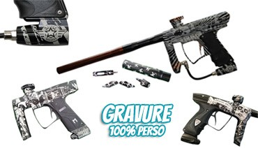 Gravure 100 % personnalisée by Paintball Select